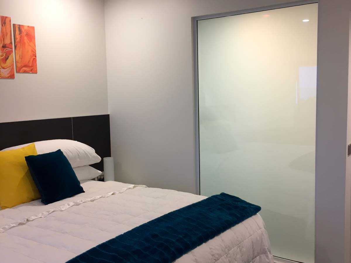 polyvision, smart privacy glass, switchable glass, hotel technology