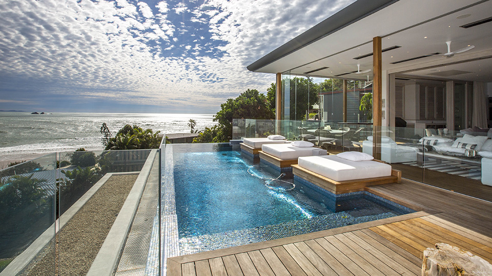 pool glass