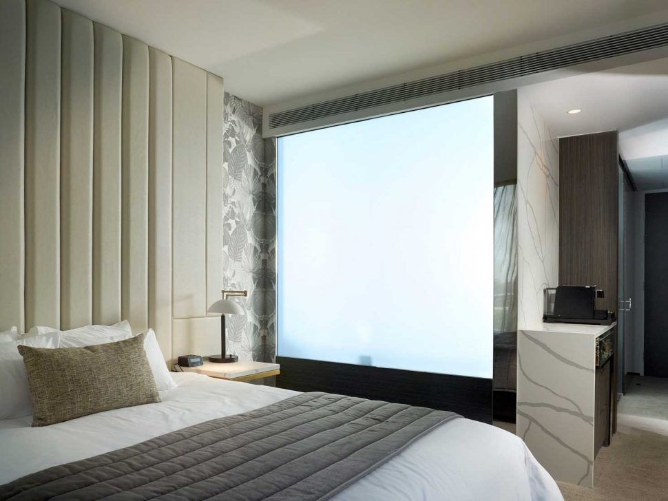 switchable glass bedroom