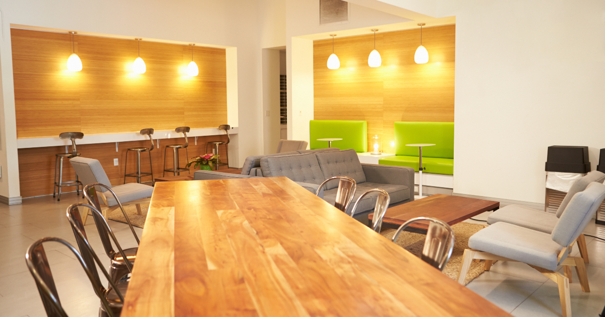 """alt=""""large wooden group office table"""""""