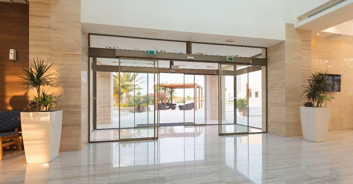 automatic sliding door, Hospital entry