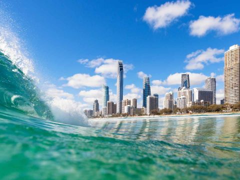 Shot of Gold Coast City QLD from the water