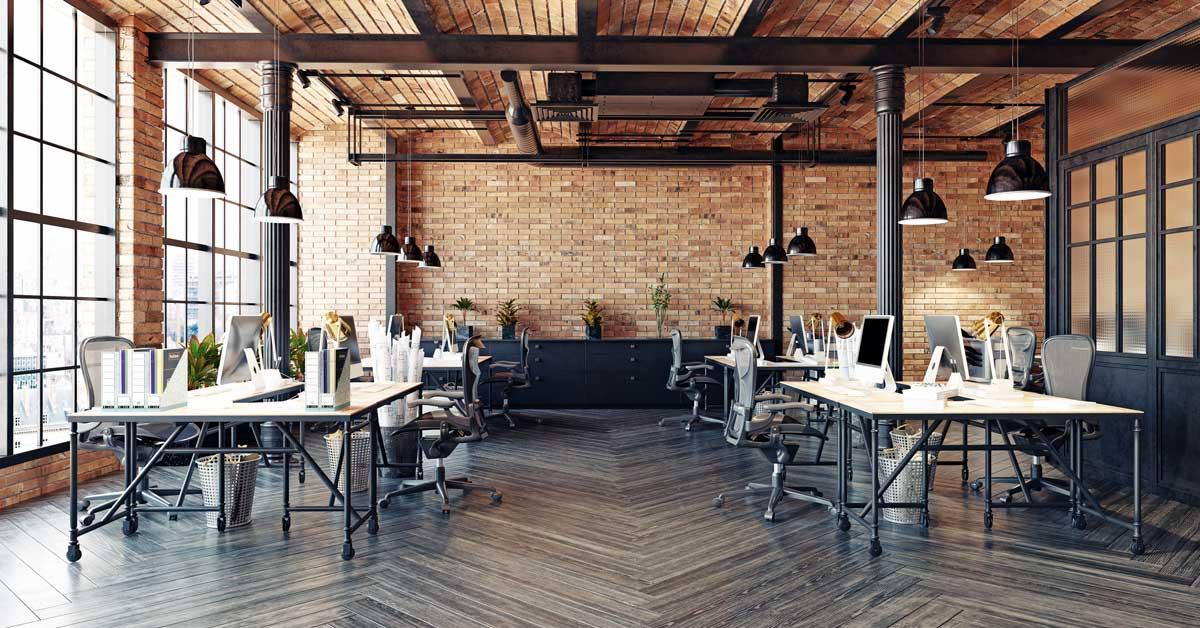 open office plan, polytron glass, office design hacks for productivity